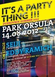 SEIJI / BEN WESTBEECH / EDDY RAMICH @ Park Orsula 14.08.2012
